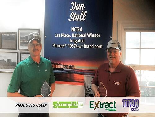 2017 NCGA National Winner Irrigated Corn-Grower Don Stall (left)-CPS Clay Martz (right)